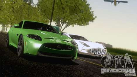 Jaguar XKR-S 2011 V1.0 для GTA San Andreas вид сбоку
