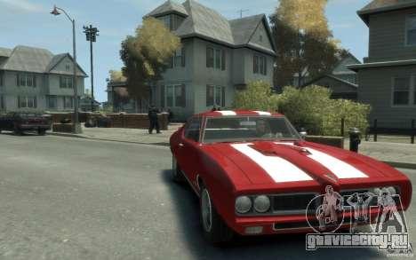 Pontiac GTO Hardtop 1968 v1 для GTA 4 вид сзади