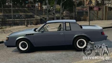 Buick GNX 1987 для GTA 4 вид слева