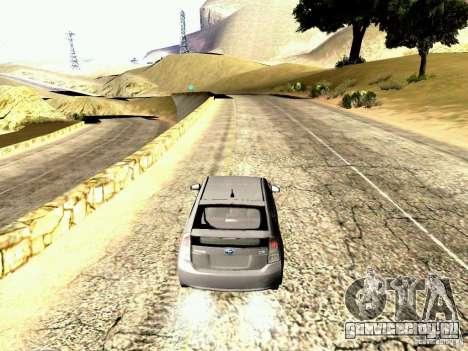 Toyota Prius Hybrid 2011 для GTA San Andreas вид справа