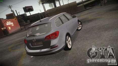 Opel Astra 2010 для GTA San Andreas вид сбоку
