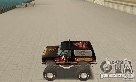 Chevrolet Blazer K5 Monster Skin 4 для GTA San Andreas