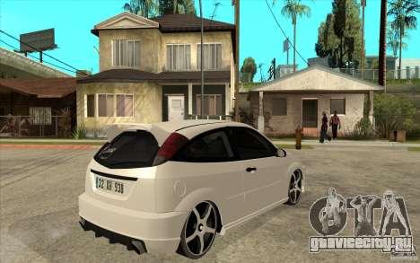 Ford Focus Coupe Tuning для GTA San Andreas вид справа