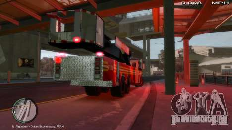 SS10 Tower Ladder v1.0 для GTA 4 вид сзади слева