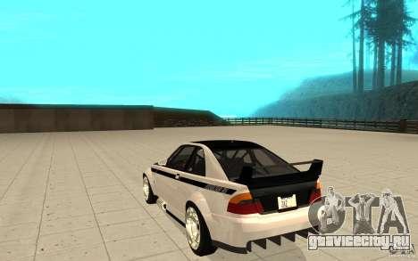 GTA IV Sultan RS FINAL для GTA San Andreas вид сзади слева