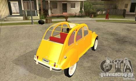 Citroen 2CV для GTA San Andreas вид справа