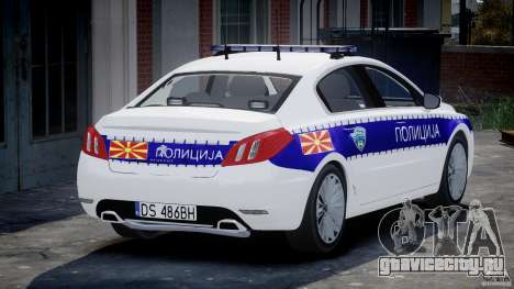 Peugeot 508 Macedonian Police [ELS] для GTA 4 вид сзади слева