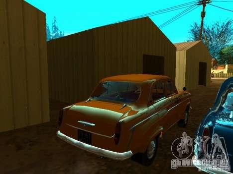Москвич 403 Такси для GTA San Andreas вид сзади слева