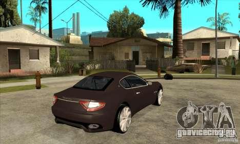 Maserati Gran Turismo для GTA San Andreas вид справа