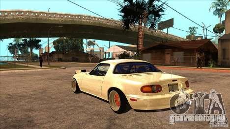 Mazda Miata JDM для GTA San Andreas вид сзади слева