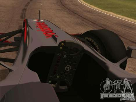 McLaren MP4-25 F1 для GTA San Andreas вид справа