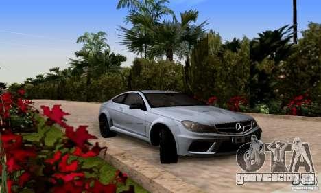 Mercedes-Benz C63 AMG для GTA San Andreas вид сзади