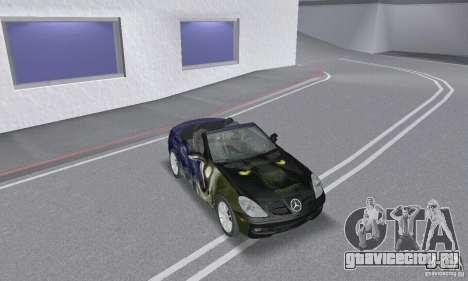 Mercedes-Benz SLK 350 для GTA San Andreas вид сверху