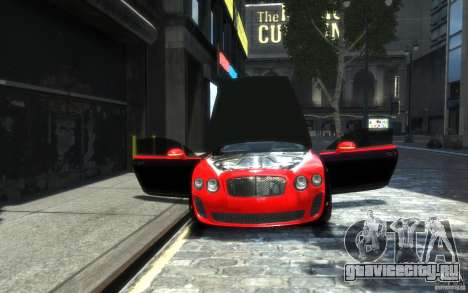 Bentley Continental SS MansorY для GTA 4 салон
