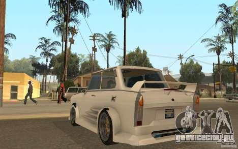 Trabant 601S Tuning для GTA San Andreas вид сзади слева