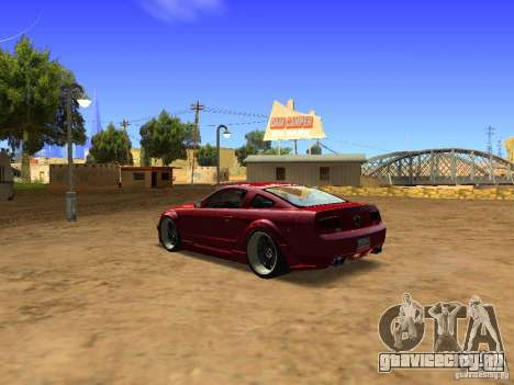 Ford Mustang GT 2005 Tuned для GTA San Andreas вид справа