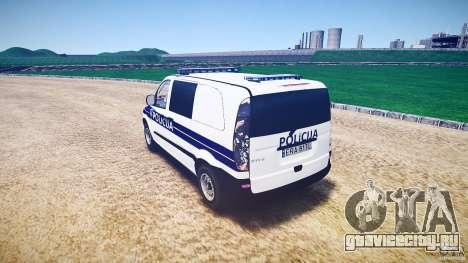 Mercedes Benz Viano Croatian police [ELS] для GTA 4 вид сзади слева