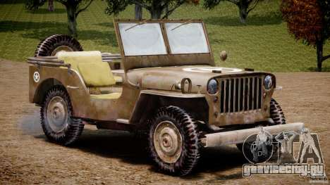 Jeep Willys [Final] для GTA 4 вид изнутри
