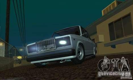 ВАЗ 2107 Аквариум для GTA San Andreas вид сзади слева