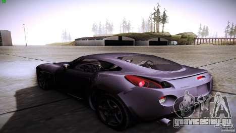 Pontiac Solstice для GTA San Andreas вид сзади слева