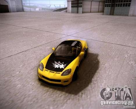 Chevrolet Corvette C6 super promotion для GTA San Andreas вид сзади