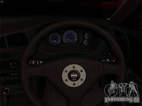 Mitsubishi Lancer Evolution VI для GTA San Andreas салон