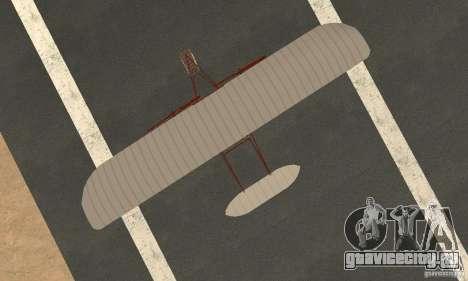 The Wright Flyer для GTA San Andreas вид справа