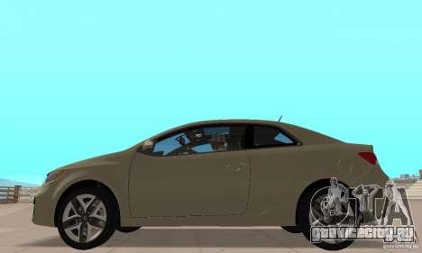 Kia Forte Koup 2010 для GTA San Andreas вид сзади слева