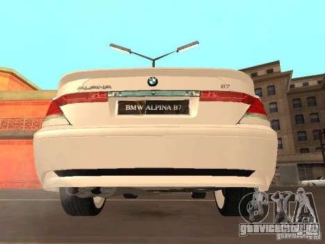 BMW Alpina B7 для GTA San Andreas вид справа
