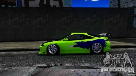 Mitsubishi Eclipse GSX FnF для GTA 4 вид сзади слева