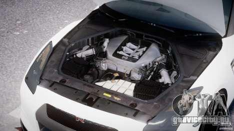 Nissan GTR R35 SpecV v1.0 для GTA 4 вид снизу