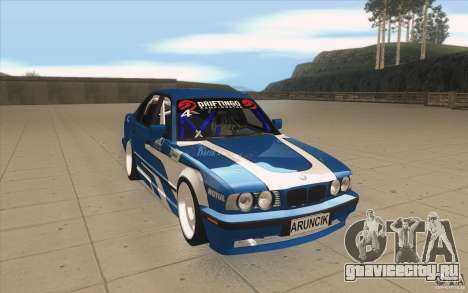 BMW E34 V8 для GTA San Andreas вид сзади