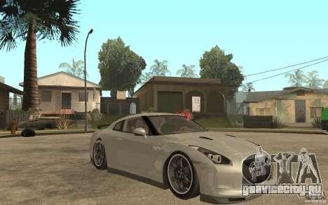 Nissan GTR SpecV 2010 для GTA San Andreas вид сзади