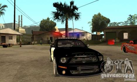Shelby GT500KR Edition POLICE для GTA San Andreas вид сзади