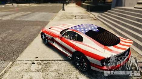 Dodge Viper GTS 2013 для GTA 4 вид справа