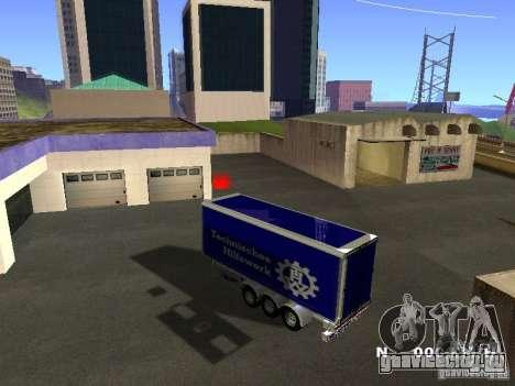 Прицеп для Iveco Stralis для GTA San Andreas вид справа