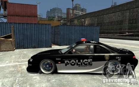 Nissan 200SX Police v0.2 для GTA 4 вид слева