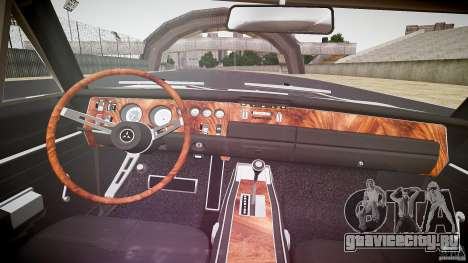 Dodge Charger RT 1969 v1.0 для GTA 4 вид сверху