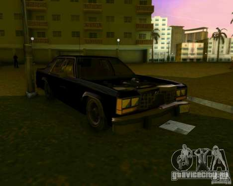 Ford Crown Victora LTD 1985 для GTA Vice City вид сверху