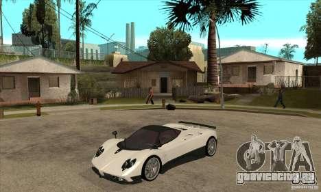 Pagani Zonda F Speed Enforcer BETA для GTA San Andreas вид слева