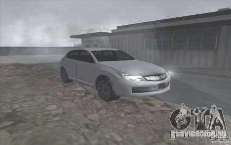 Субару Импреза в стиле SA для GTA San Andreas вид слева