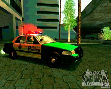 Ford Crown Victoria 2003 Police Interceptor VCPD для GTA San Andreas вид сзади