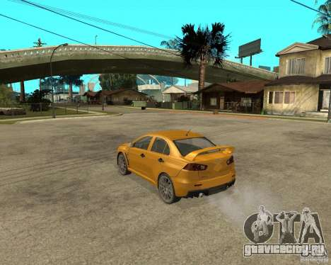 Mitsubishi Lancer Evolution X - Shark - Акула для GTA San Andreas вид слева