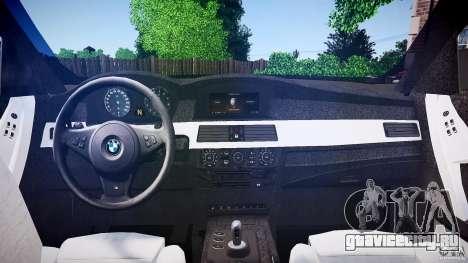 BMW E60 M5 2006 для GTA 4 вид справа
