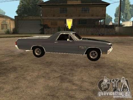 Chevrolet El Camino SS 454 1970 для GTA San Andreas вид слева