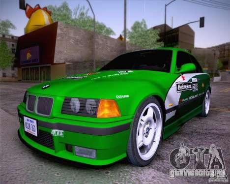 BMW M3 E36 1995 для GTA San Andreas вид изнутри