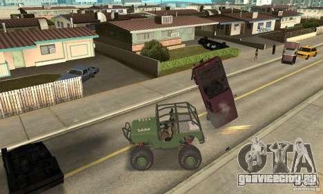 Jeep Willys Rock Crawler для GTA San Andreas вид слева