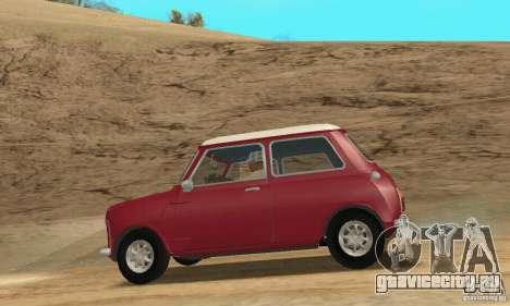 Mini Cooper S для GTA San Andreas вид справа