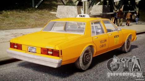 Chevrolet Impala Taxi v2.0 для GTA 4 вид сверху