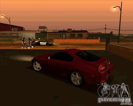 Toyota Supra NFS Most Wanted для GTA San Andreas вид слева